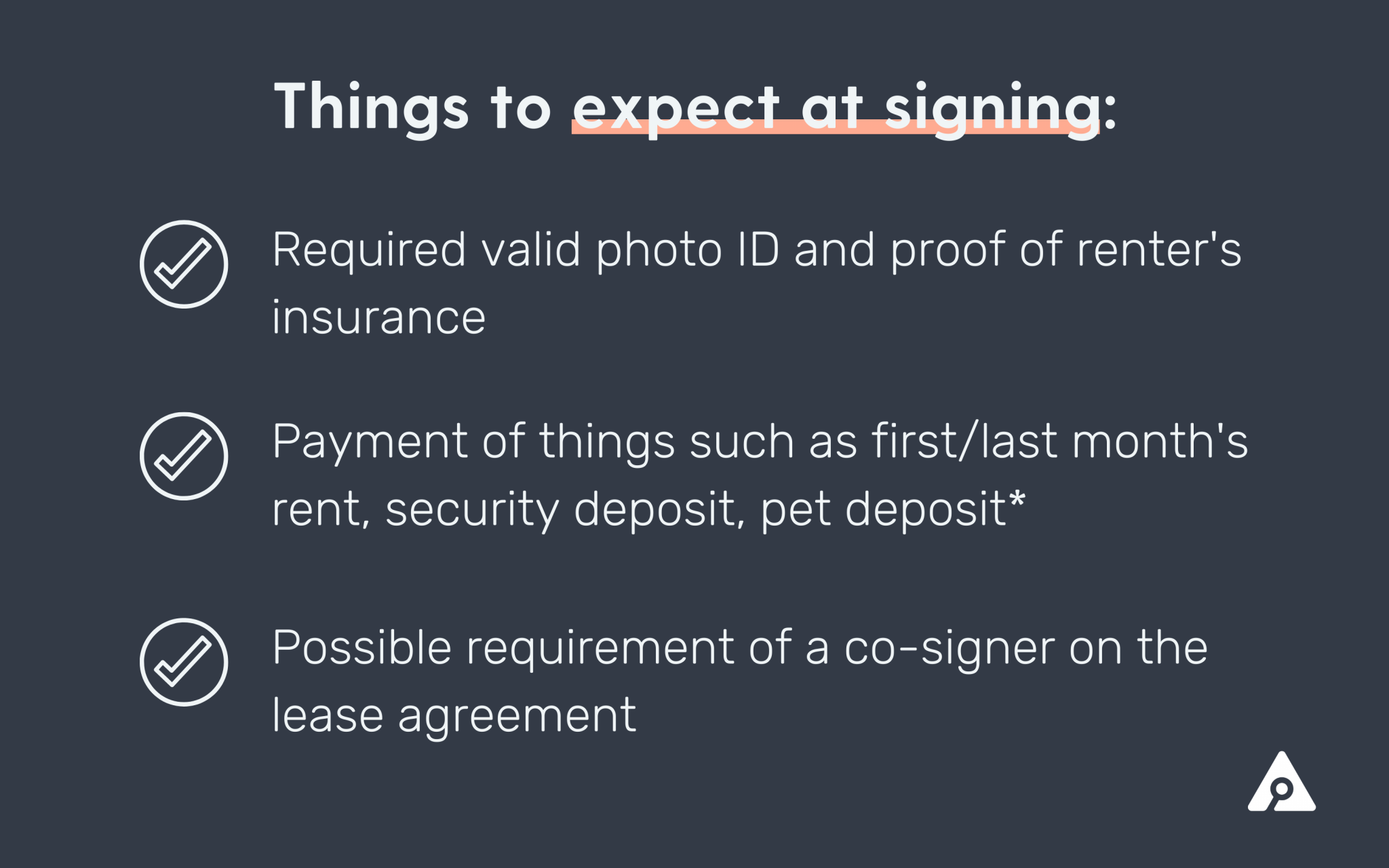 signing first lease
